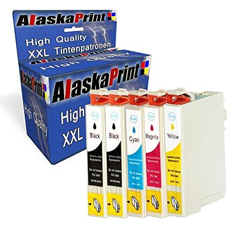 Alaskaprint 5 Kompatibel Druckerpatronen Ersatz für Epson 29 29XL Hohe Kapazität mit Epson Expression Home XP-342 XP-345 XP-245 XP-442 XP-445 XP-247 XP-332 XP-352 XP-235 XP-435 XP-432 XP-335