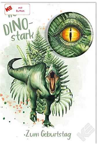 Geburtstagskarte Dinosaurier für Jungen | Glückwunschkarte zum Geburtstag | Geburtstagskarte Kinder | Kindergeburtstag | DIN B6 176 x 125 mm | Klappkarte inkl. Umschlag