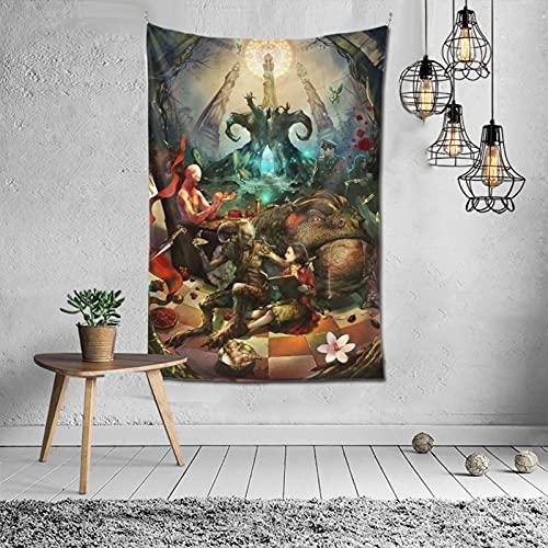 Pan's Labyrinth Dark Fantasy Movie Artikel Kunst Römische Mythologie Spanische Kino Blassmann Faun Indoor Dekorative Tuch Wanddekoration 3D-Muster für Wohnzimmer Merchandise