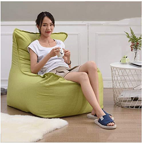 DBL Adult High Back Beanbag Riesensitzsack Stuhl for Erwachsene for Kinder for die ganze Familie Große Stühle Taschen Zurück Bean Bag Schreibtischstühle (Color : 70 * 105 * 85cm, Size : Green)