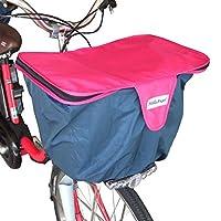 ハローエンジェル 自転車用 2段式 かごカバー 前用 (ピンク) 前カゴ カバー