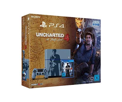 PlayStation 4 - Konsole (1TB, grau-blau) im Uncharted 4: A Thief's End Design inkl. Uncharted 4: A Thief's End