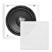 """Ceiling Wall Mount Enclosed Speaker - 360 Watt Stereo In-wall / In-ceiling 10"""" Enclosed Full Range Subwoofer Speaker System - 40Hz-3kHz Frequency Response, 8 Ohm, Flush Mount - Pyle PDIWS10 (White) (Renewed)"""