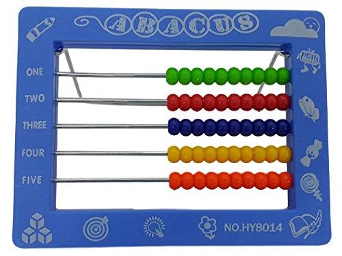 Eddy Toys T656X Rechenschieber Zählrahmen Abakus Hilfe Zum Rechnen Vorschulkind V2 (Blau)