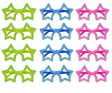 Neon Color Fun Party Goggles for KDS Birthday Return Gifts (Star Set of 12)