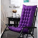 Thicken Portable Sun Lounger Cushion,Garden Recliner Rocking Chair Cushion,Relax Chair Pad Mat for Travel Holiday (No Chair) Purple 125x48x8cm(49x19x3inch)