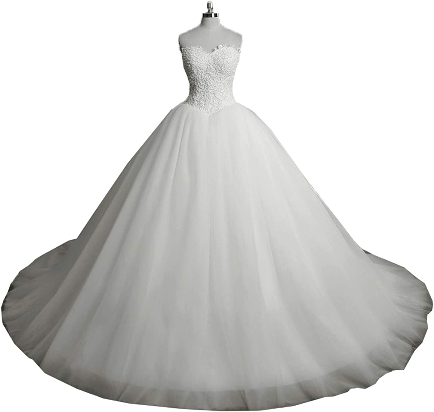 WHZZ Bonnie Beaded Ball Gown Wedding Dresses for Guests Tulle Wedding Gowns