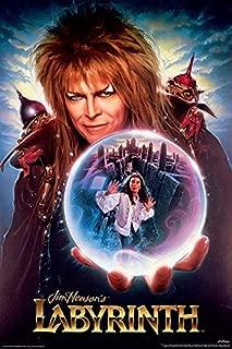 Buyartforless Jim Henson's Labyrinth Starring David Bowie 1986 36x24 Movie Poster, Print, Decorative Accent, Wall Art Multi-Color