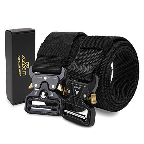 Korins Cinturón táctico de 2 Piezas, cinturón de Nailon de Estilo Militar con Hebilla de liberación rápida para Hombres y Mujeres