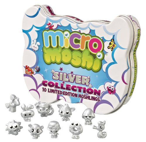 Moshi Monsters – Micro Moshi – Silver Collection – 10 Figurines 2 cm Argentées (Import Royaume-Uni)