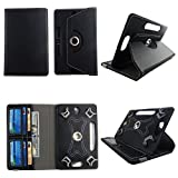 Black Tablet case 8 inch for Zeki TBQG 8' 8inch Android Tablet Cases 360 Rotating Slim Folio Stand Protector pu Leather Cover Travel e-Reader Cash Slots