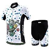 Ateid - Maillot de ciclismo para niños, manga corta, con pantalón, color Krieg der Sterne, tamaño 116