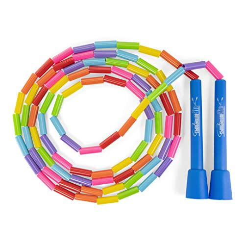 Beaded Jump Rope - Segmented Skipping Rope for Kids - Durable Outdoor Beads