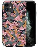 CASFY - Funda para teléfono compatible con iPhone 11, diseño de camuflaje rosa KU119_7, diseño de moda estético, accesorios para teléfono