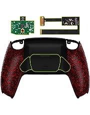 eXtremeRate Programowalny zestaw do remontu RISE do kontrolera PS5, płyta aktualizacyjna i nowo zaprojektowana tylna obudowa i tylna przystawka do kontrolera DualSense