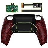 eXtremeRate Programable Rise Remap Kit para PS5 Mando BDM-010 Actualización Board&Carcasa Trasera Diseñada&Botones Traseros Accesorios para Playstation 5 Control-NO Incluye Mando(Salpicaduras Rojos)
