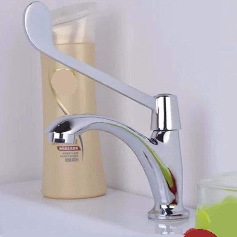 LANTA Home Waschbecken-Mischbatterie Badezimmer-Küchen-Becken-Hahn auslaufsicher Sparen Sie Wasser-Kupfer einzelnes kaltes in Wandverlngerungs-Griff-Ellbogen