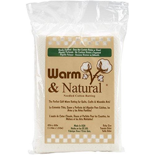 "Warm Company Batting 2322 Warm & Natural Cotton Batting-Crib Size 45""X60"""
