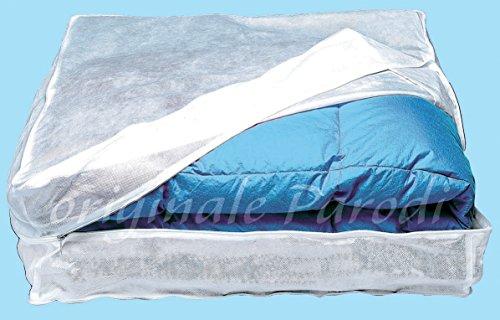 Parodi&Parodi, il salva piumoni, art. 212, custodia salva coperte in TNT traspirante misura 60x65x25 cm, progge al meglio coperte, plaid, borse consentendo ai capi un costante ricambio d'aria