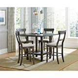 Progressive Furniture Muses Complete Counter Table, Weathered Pepper