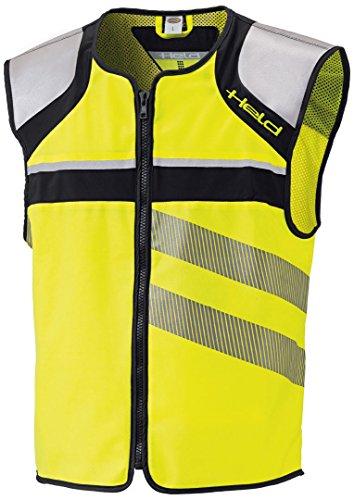 Held Stretch Warnweste, Farbe schwarz-Neongelb, Größe XL