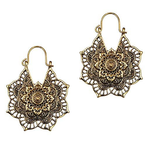 kinnter Ohrringe Metall Chinesischer Stil Geschnitzt Elegante Ohrringe Baumeln Ohrringe für Ferien am Meer Ihre Freundin Ehefrau