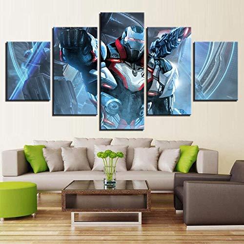 Joyas Leinwand Leben HD Druck Home Dekoration Malerei Wandkunst 5 Panel Film Held Endspiel Held Mantie Filmplakat
