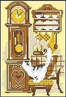 フルレンジの刺繡スターターキット11CT刻印クロスステッチキットカラフルな雪のシーン大人のプリント刺繡布ニードルポイントDIY誕生日プレゼント大人手作り-16x20インチ