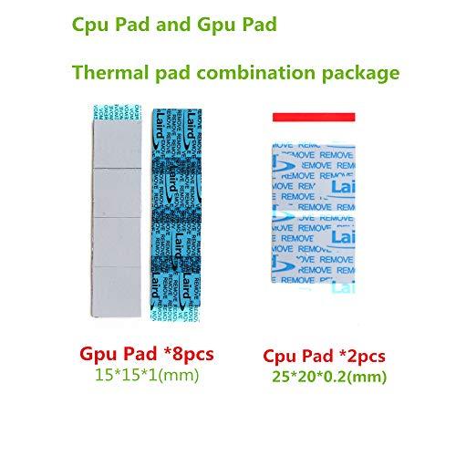 2pcs 100x100x2mm 2mm Composto Termico Conduttivo Spessore Pad Dissipatore Chip GPU