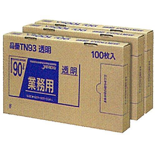 ジャパックス BOXシリーズ 透明 90L 厚み0.040mm TN93 3BOX(300枚入)×5箱セット