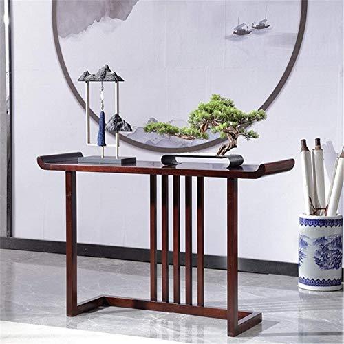 N/Z Table de Console d'équipement de Vie Table de Vue de côté d'étude de Salon Minimaliste Moderne Table d'entrée en Bois Massif Table d'entrée (Couleur: Marron Taille: 120x36x78cm)