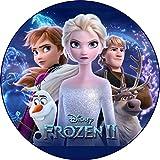 Frozen II, Eiskönigin Tortenaufleger, Rund...