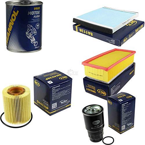 Original SCT Inspektionspaket Filter Set + Motor Flush Motorspülung 11584349