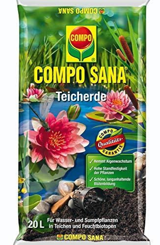 COMPO SANA Teicherde für alle Wasser- und Sumpfpflanzen, Kultursubstrat, 20 Liter, Braun