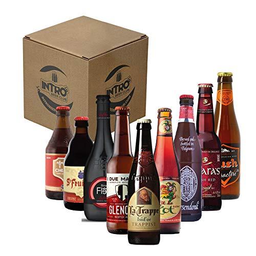 INTRO BEER CLUB Box Degustazione Birre Artigianali - Selezione di Birre dal Mondo'Red Beer Top Selection' - Kit con 9 Bottiglie da 33cl - Confezione Idea Regalo Uomo