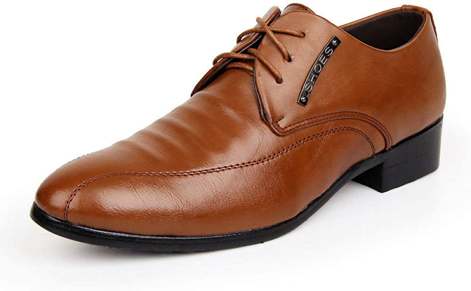 DSFGHE Men Simple Business shoes Fashion Low-top shoes Leather shoes