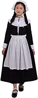 GRACEART Renaissance Pilgrim Girl Puritan Costume 100% Cotton (10)