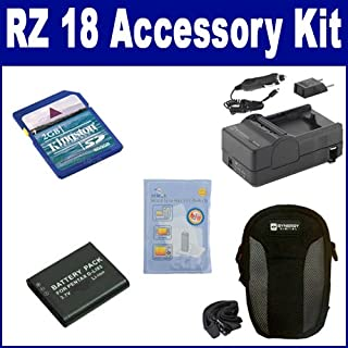 Pentax Optio RZ 18 Digital Camera Accessory Kit includes: SDDLi92 Battery, SDM-192 Charger, KSD2GB Memory Card, SDC-22 Case, ZELCKSG Care & Cleaning