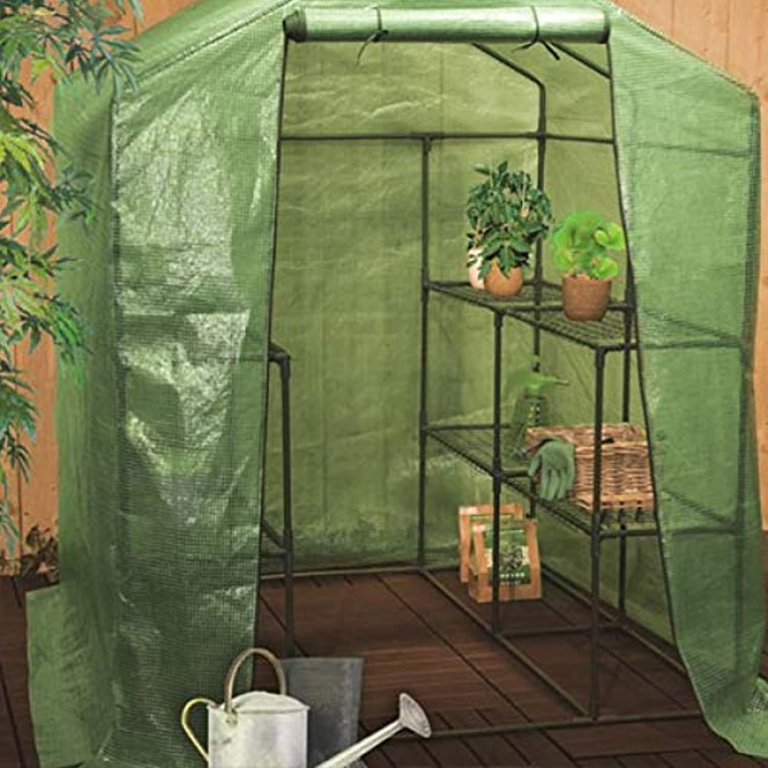 Eurowebb Large Greenhouse with 4 Shelves  Metal Shelves  Easy to Assemble and Store