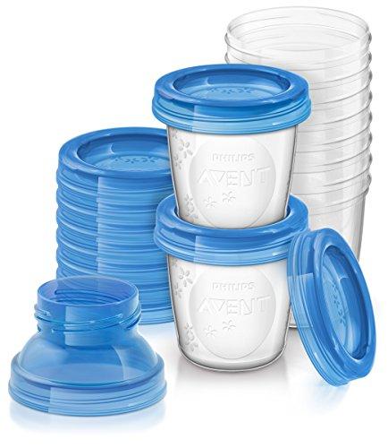 Philips AVENT, SCF618/10,contenitori riutilizzabili per latte materno–Confezione da 10