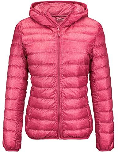 Wantdo Women's Warm Lightweight Down Jacket Packable Winter Coat Magenta X-Large