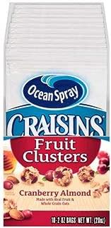 Ocean Spray Craisins Cranberry Almond Fruit Cluster, 2 Ounce -- 40 per case.