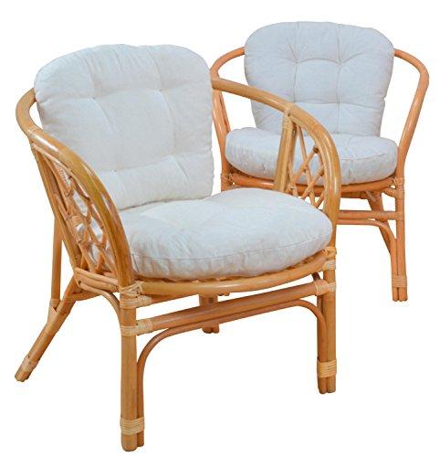 moebel direkt online Kissenauflage Sitz- und Rückenkissen Kissenauflage für 2 Sessel (2X Sitz- und 2X Rückenkissen)