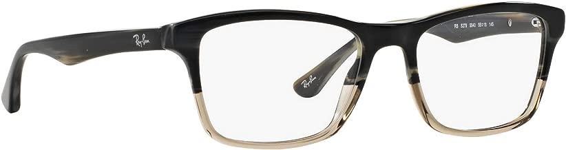 Ray-Ban RX5279 5540 Eyeglasses Grey Horn Gradient Transparent Grey Frame 55mm.