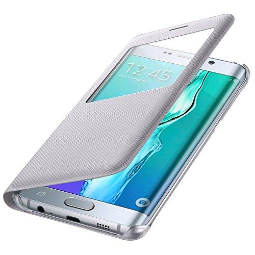 Samsung BT-EFCG928PSEGWW - Funda para Samsung Galaxy S6 Edge +, color plata- Versión Extranjera