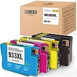 LEMERO SUPERX 932XL 933XL Tintenpatrone Kompatibel für HP 932 933 für HP Officejet 6100 6600 6700 7110 7510 7512 7610 7612(Schwarz/Cyan/Magenta/Gelb)