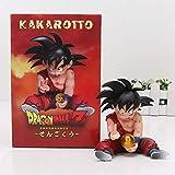 Flevans Figura Originale Dragon Ball Z Goku Bambino Kakarotto Kakaroto Giocattolo in Resina da Collezione SPETTACOLARE Akira