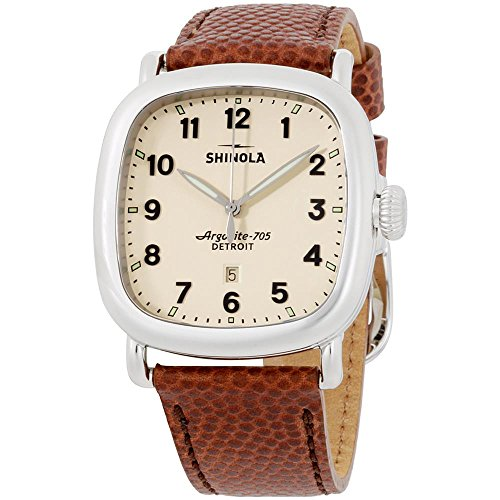 Shinola The Guardian Cream Dial Leather Strap Men's Watch 20029582