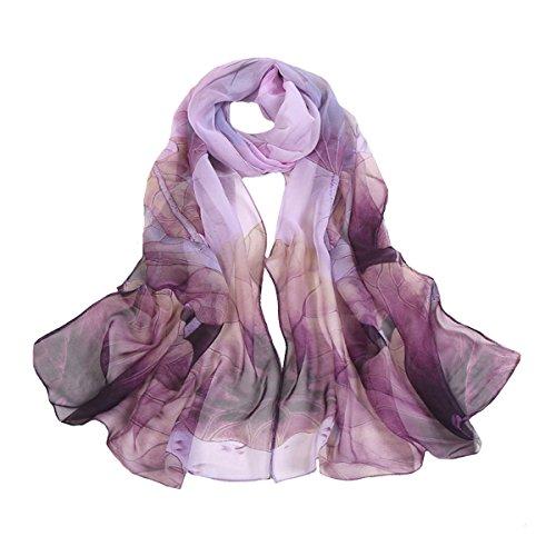 Bufandas de chifón para mujer, diseño floral, ligero, para verano, protector solar, toalla de playa