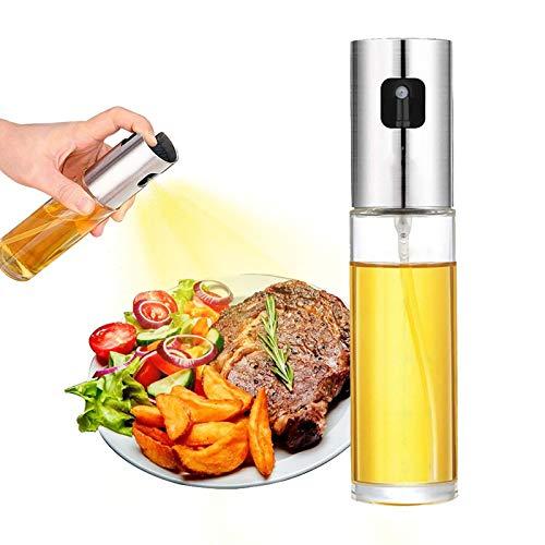 Pulverizador de aceite de oliva, 100 ml para cocinar Dispensador de pulverizador de Aceite , botella de spray de aceite de oliva Sparyer para barbacoa, ensalada, hornear, freír cocina